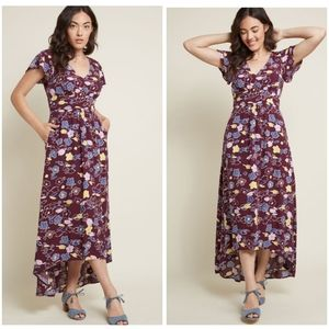 MODCLOTH GALLERY FLATTERY FLORAL DR…